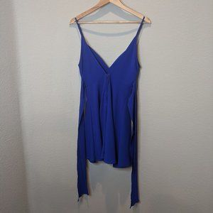 ADORABLE! Windsor Blue Short Dress with Tie S